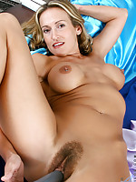 Hot tempting Anilos Jolie masturbates her tight snatch with a vibrator
